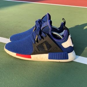 sale retailer 5e3b0 0a57e Adidas NMD XR1 Mystery Blue Red White Size 9.5
